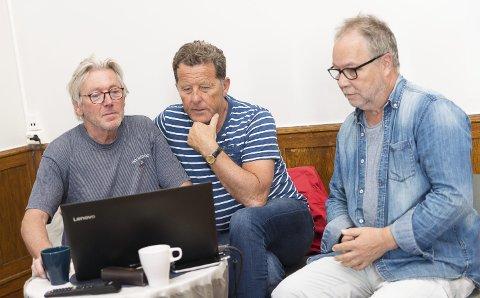 IGANG: Tekstforfatter og kreativ rådgiver Bjarte Ytre-Arne, initiativtaker og ansvarlig produsent Oddvar Hemsøe og musikalsk ansvarlig Fred Dalbakk har startet jobben med årets Hamarrevy.