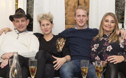 4-stjerners Middag: Leif Einar Lothe fekk besøk av Heidi Marie Vestrheim, Erik Follestad og Elin Tvedt. I veke sju kan du sjå resultatet på TV. foto: TVNorge