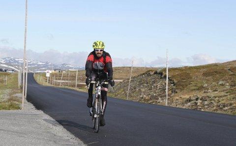 Norseman: Timo Knoch under crewløpet i 2015. Natt til laurdag står han for første gong på startstreken i den ordinære Norseman-triatlonen.Foto: Privat