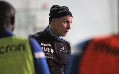 IKKE FORNØYD: FKH-trener Jostein Grindhaug.