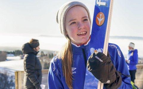 FØRSTE: Eirin Kvandal, Mosjøen IL tok sin første seier i norgescupen i helga. Bildet er fra NM i fjor, da Eirin deltok i sitt første seniormesterskap. Foto: Kari Kvandal