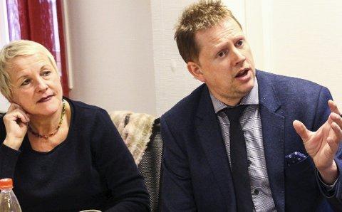 Kontroversielt: Richard Dagsvik innser at forslaget om å bruke Dagsvika er kontroversielt. Turid Ringstad (Ap) til venstre.