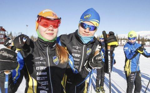 TVILLINGER I LØYPA: Vårin og Jardar Olsen er tvillinger og blant favorittene i J14 og G14.