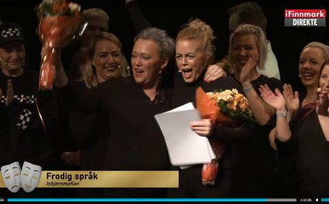 FIKK PRIS: Her har Hanne Haukeland Hansen og Isbjørnmafian fått vite at de har vunnet to priser.