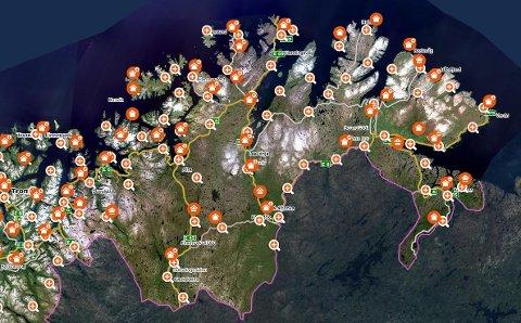 EIENDOM: En rekke eiendommer i Finnmark skiftet eier uka som gikk.