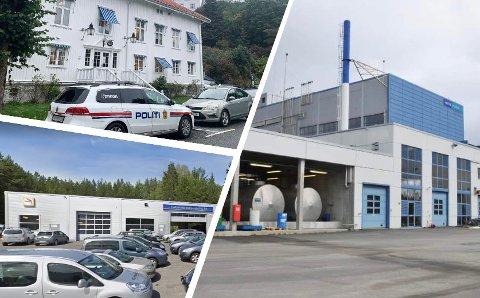 LEDIGE STILLINGER: Kragerø politistasjon, Linkjendal Bilforretning og Vistin Pharma er blant dem som ser etter nye medarbeidere.