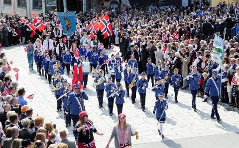 17. MAI 2018: Her ser vi Juniorkorpset til Guttemusikken på årets nasjonaldag. De vil gjerne ha flere med i rekkene.
