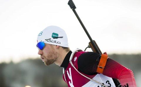 32. PLASS: Det gikk ikke akkurat styggfort for Erlend Øvereng Bjøntegaard i sprintløypa i tyske Oberhof fredag. Han ble 32. mann på spesialdistansen sprint etter å ha pådratt seg to bom.Foto: Berit Roald / NTB scanpix