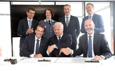 Avtale: Kongsberg Gruppen og FLO har blitt enige og inngår avtale, blant annet en strategisk samarbeidsavtale om luftsystemer.