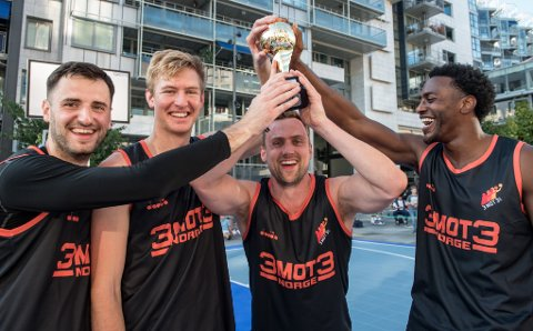 NORGESMESTERE: Fra venstre: Ognjen Nisavic, Haakon Ullrich, Nicolai Østbye og Joshua Hart.