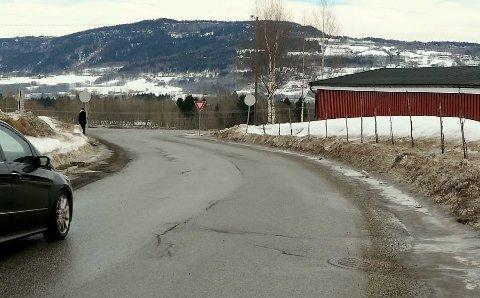 Dårlige veier: Nå som snøen har begynt å forsvinne kommer sprekkene i veiene fram. Arkivbilde