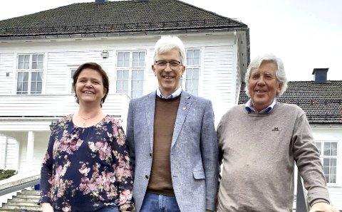 Tre på topp: Morten Egeberg (i midten) topper KrFs liste foran Tone Christine Cook Skustad og Magnus Angeltveit. Foto: Ragnhild Moslet Egeberg