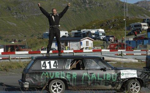 Regjerende mester: Stian Bakkemo ble klubbmester i Lofoten Motorsport Klubb i fjor. Klarer han å forsvare tittelen på Evjen lørdag?Arkivfoto