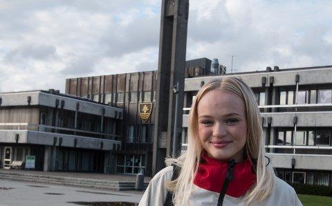 NYVALGT: Tea Frøyland er nyvalgt leder av Lyngdal ungdomsråd.