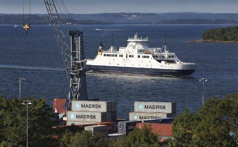 FERJETRAFIKK: Også på vestsiden av Oslofjorden er det sterke synspunkter på jernbaneutbyggingen i Moss.