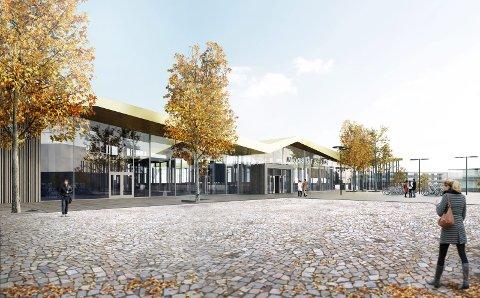Stasjonsbygget: Den nye jernbanestasjonen trekkes 150 meter lenger sør, ikke 500 meter, skriver Tage Pettersen.ill: BANE NOR