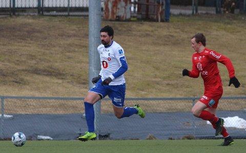 TOMÅLSSCORER: Tim Reinback står med fire mål på to kamper etter overgangen til Sprint-Jeløy.