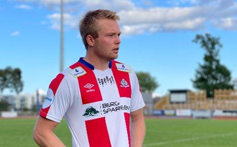 GJORDE GODT: Fabian Stensrud Ness var fornøyd etter å ha scoret to mot gamleklubben.