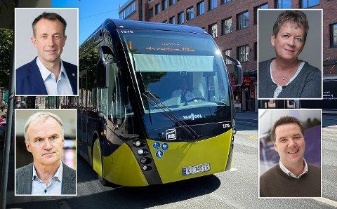 MILLIONLØNNER: Vy-topp Geir Isaksen hadde i fjor lønn og ytelser på 5,2 millioner. Vy Buss-topp Ole Engebret Haugen på 3,3 millioner. Tide-topp Roger Rong Harkestad på 3,2 millioner. AtB-sjef Janne Sollie har over 1,3 millioner i lønn.