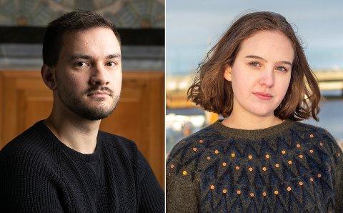 Kenneth Klungland Stange, leder for velferdstinget ved NTNU, og tidligere student Nora Selnæs, er ikke overrasket over tallene som forteller om studentenes psykiske helse, men mener det er alvorlig.