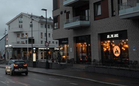 KONKURS: Joe & The Juice har et av sine serveringssteder her på Sæter.