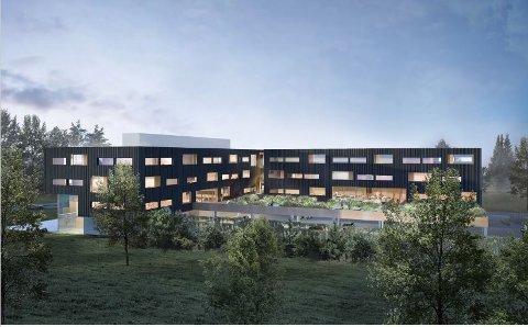 Slik blir den nye politistasjonen som skal huse politiet på Manglerud og Stovner fra og med 2024.