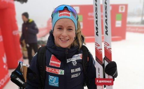 DRØMMESTART: Anna Svendsen slo til med et av de beste distanserennene i sin karriere under åpningsrennet på Beitostølen i dag.