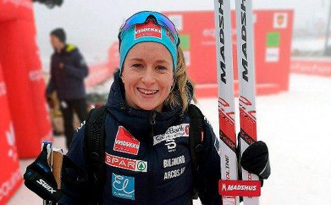 OPP OG NED: Anna Svendsen gliste godt over det hun fikk til i fristil under verdenscupen på Lillehammer, men beskriver klassiskjaktstarten søndag som en liten nedtur der hun ikke hadde helt optimale ski.