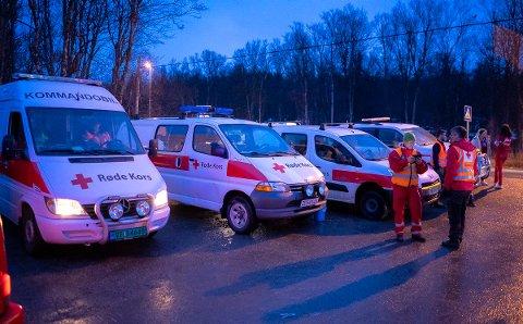 VOLD: Fornærmede ble tatt hånd om av Røde Kors etter en voldshendelse i Telegrafbukta natt til 17. mai. Her fra 1. mai samme år.