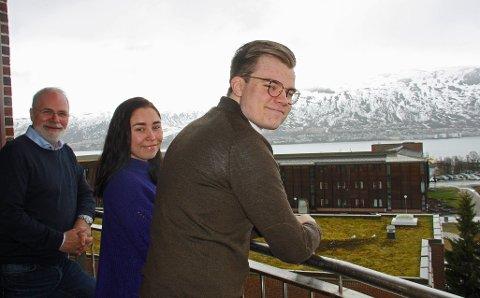 GODE UTSIKTER: Fjoråret var et toppår for Studentsamskipnaden. Administrerende direktør Hans Petter Kvaal (til venstre), Studentparlamentets nestleder Martine Tennholm og styreleder Vetle Langdahl ser framover mot ny storsatsing i årene som kommer.