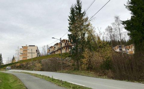 STØYVURDERING: Hovdetoppen er omregulert til boligformål. Nå foreligger også støyberegninger i området.