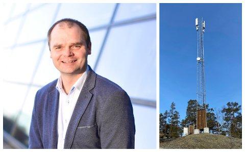 SER MOT VÅRE KOMMUNER: Pål Lukashaugen sier Telenor nå planlegger basestasjoner i Gjøvikregionen for å kunne tilby bedre telefoni og G4