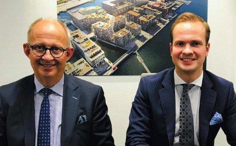 FRA FAR TIL SØNN: Andreas Pay (til høyre) overtar jobben som konsernsjef i Urbanium Gruppen etter sin far Espen (til venstre) fra nyttår.