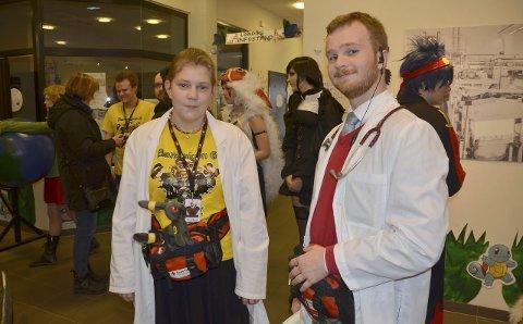 "Trygt arranment: Camilla Bassebo fra Stavern og Fredrik Schulstock fra Sandefjord var med i ""medic-gruppa"" som sørget for at deltakerne ble tatt godt vare på."