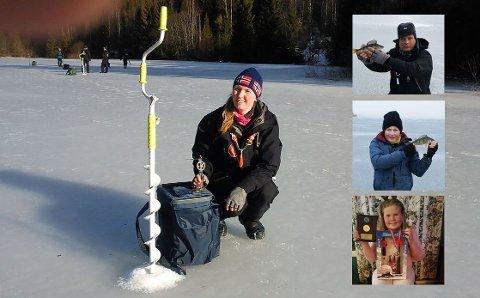 Familien Bjørnstad fra Kvelde vet hvordan man drar fisk opp fra isen. Det vitner resultatene fra nordisk mesterskap om.