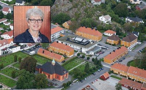 – INGEN RAMMET: Ifølge daglig leder ved Sjømannshjemmet, Kari Solem (innfelt), har de ikke avdekket at noen av pasientene er rammet.