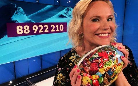 TIDENES: Dette må ha vært tidens påskeegg, sa programleder Ingeborg Myhre etter onsdagens Vikinglotto-trekning, der en norsk spiller tok hele potten på ca. 89 millioner alene.