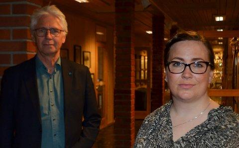 IKKE OVERRASKET: Trysil-ordfører Erik Sletten (Sp) og Engerdal-ordfører Line Storsnes (Sp) er skuffet, men ikke overrasket over statsrådens sykehusvedtak.