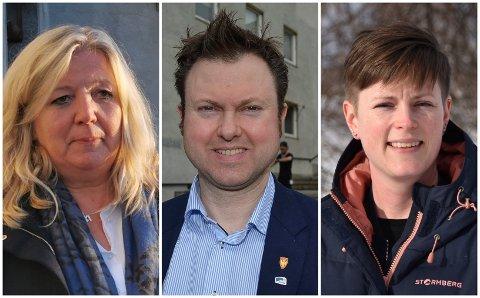 DELTAR IKKE I DEBATTEN: Ordfører Lillian Skjærvik (fra venstre), Yngve Sætre og Ingrid Hvidsten Gabrielsen velger å holde seg borte fra kommentarfeltene på Facebook.