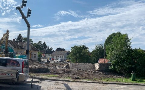 REVET: Huset i Sverresgate 21 ble revet kort tid etter at klagesaken var ferdig.