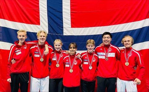 Alle utøverne fra Rana karateklubb tok medalje i NM på Lillestrøm lørdag.