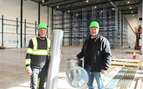 Gleder seg: Roger Landgård (t.v.) og Erik Gran i Klima Nor AS ser fram til å komme inn i nye lokaler.