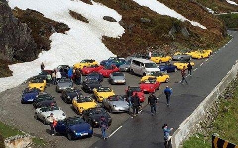 Plass: De trenger god plass når alle bilene skal stoppe på samme sted.