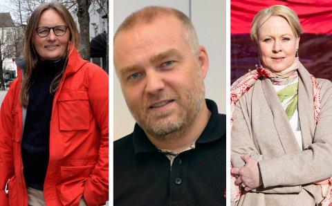 TRE KOMMUNER: Kommuneoverlege i Ringerike, Karin Møller, smittevernlege i Hole, Bernt Ivar Gaarder og kommuneoverlege Marthe Bergli. Ingen av dem har rapportert nye smittetilfeller siden lørdag.