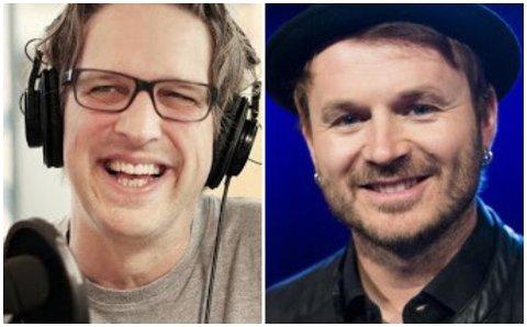 TO KJENTE STEMMER: Ole Christian Øen og Knut Anders Sørum skal underholde live på Facebook.