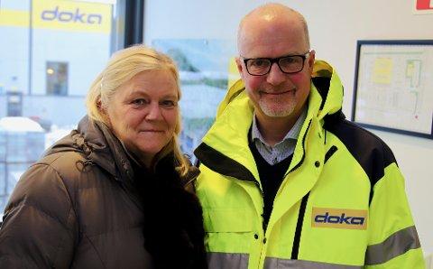 VIKTIG: - Det er rundt 500 arbeidsplasser i Røyken næringspark, påpeker daglig leder i næringsrådet, Hilde Thorud, og leder i grunneierforeningen i næringsparken, Ståle Njåtun.