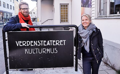 STØTTEKONSERT: Stian Lundh Hansen og Hanne Reidun Storstein er i full gang med forberedelsene til «Sammen for MyHome» i Verdensteateret i januar.