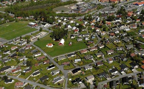 PRESSOMRÅDE: Grålum er et av de store pressområdene i Sarpsborg kommune. Bildet viser et klassisk boligområde preget av eneboliger. De fleste husene ble oppført på slutten av 1960-tallet og tidlig 70-tall.