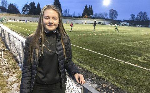 FOTBALLTALENT: Helene Lexerød (15) ble tatt ut på Equinors Talentleir, som eneste Østfold-jente i sin årsklasse.