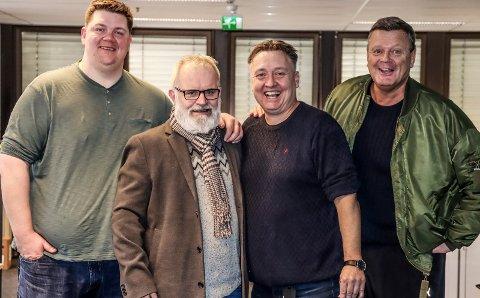SA-PODDEN: Patrick Walther Larsen, Øistein Veberg, Petter Kalnes og Bjørn Inge «Bingen» Nilsen.